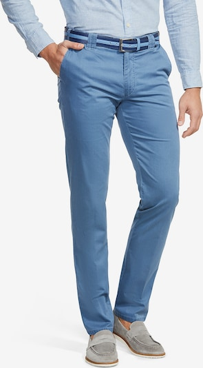 Meyer Hosen Moderne Flatfront Chino Oslo in blue denim, Produktansicht