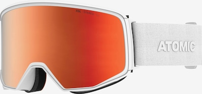ATOMIC Skibrille 'FOUR Q STEREO' in orange / weiß, Produktansicht