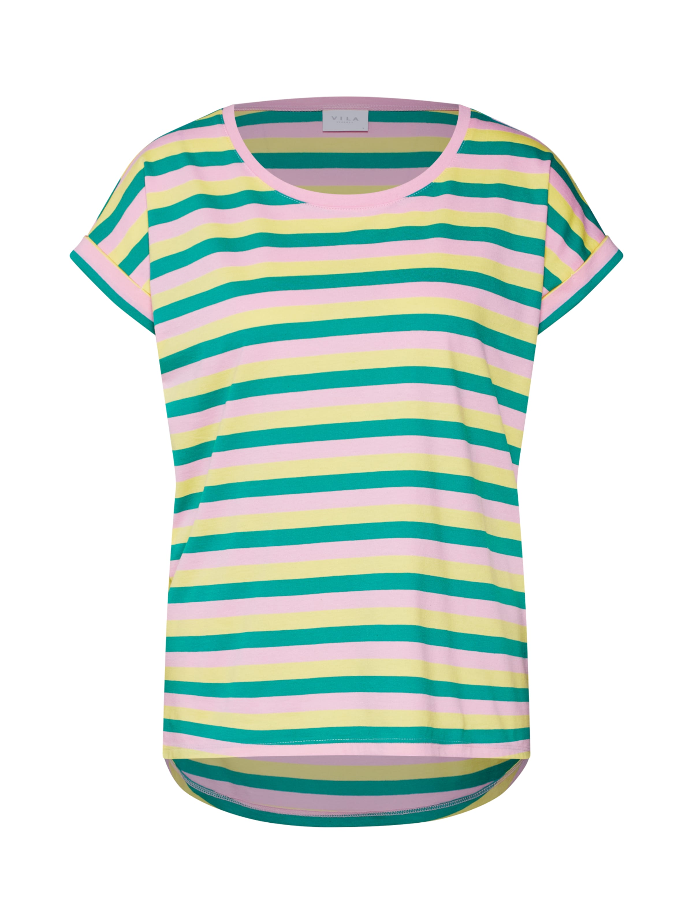 In Rosa Shirt BlauwGeel Vila 'dreamers' 3AjL4Rc5q