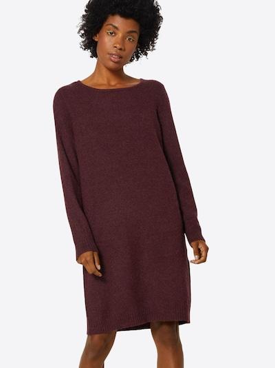 VILA Robes en maille en lie de vin, Vue avec modèle