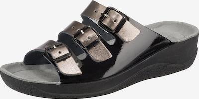 BECK Yvonne Komfort-Pantoletten in bronze / schwarz, Produktansicht