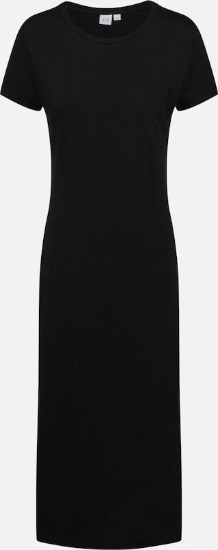 GAP Kleid 'V-SS MIDI TEE DRESS' in schwarz: Frontalansicht