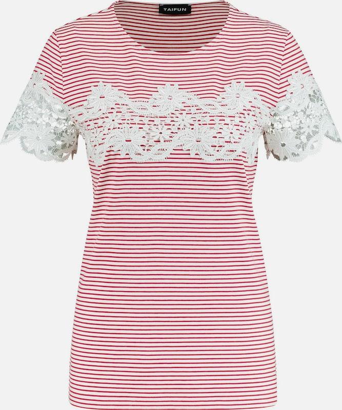 TAIFUN T-Shirt in in in rot   weiß  Markenkleidung für Männer und Frauen b12a7c