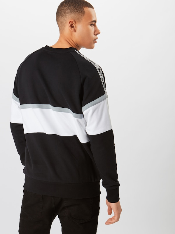 PUMA Sweatshirt in hellgrau   schwarz   weiß weiß weiß  Mode neue Kleidung 841265