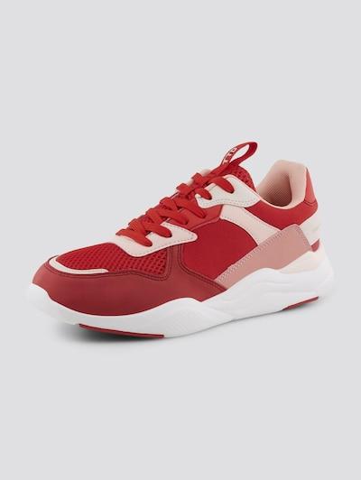 TOM TAILOR DENIM Shoes Sneaker mit Farbdetails in rot, Produktansicht