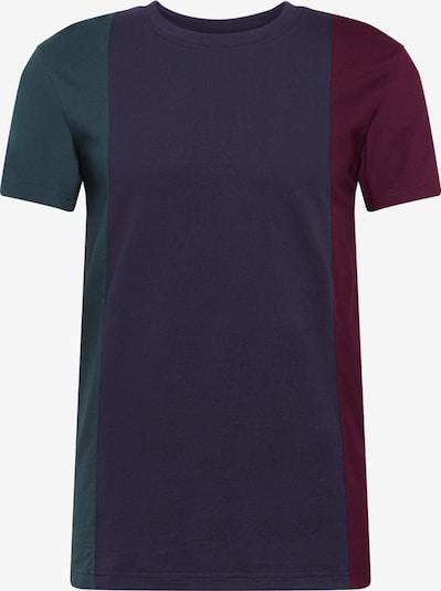 Urban Classics T-Shirt 'Tripple Tee' in navy / tanne / burgunder, Produktansicht
