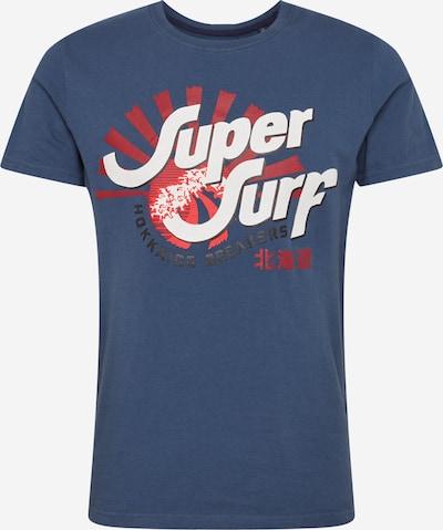 kék / piros / fehér Superdry Póló 'SHAPERS N MAKERS TEE', Termék nézet