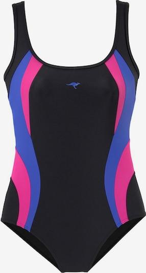 KangaROOS Badeanzug in blau / rosa / schwarz, Produktansicht