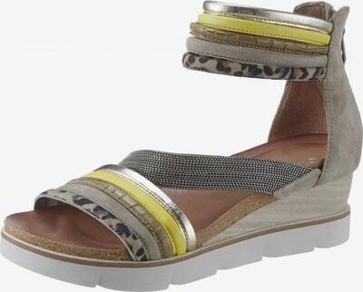 JOLANA & FENENA Sandalette in gelb / khaki, Produktansicht