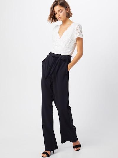 Vera Mont Overall in creme / schwarz, Modelansicht