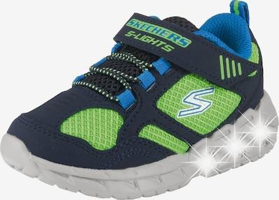 SKECHERS Sneakers 'Magna-lights' in nachtblau / neonblau / hellgrün, Produktansicht