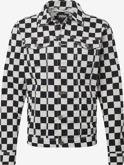 Urban Classics Prechodná bunda 'Check Twill Jacket' - čierna / biela, Produkt
