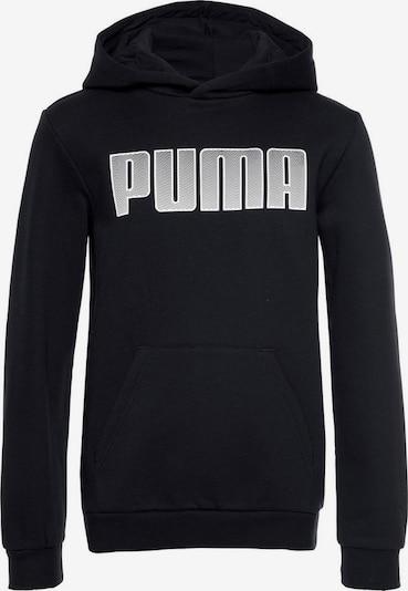 PUMA Kapuzenpullover in schwarz / weiß, Produktansicht