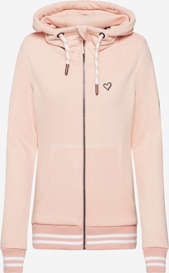 Alife and Kickin Sweatjacke 'Yasmin' in rosa / weiß, Produktansicht