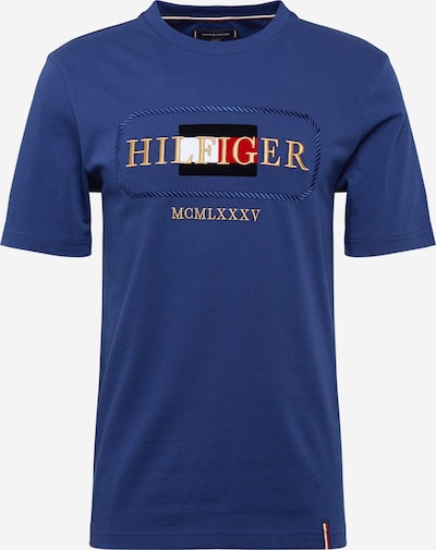 TOMMY HILFIGER T-Shirt 'ICON ROPE FRAME RELAX TEE' in dunkelblau / gold / rot / weiß, Produktansicht