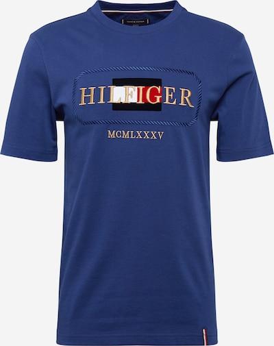 TOMMY HILFIGER T-Shirt 'ICON ROPE FRAME RELAX TEE' en bleu foncé / or / rouge / blanc, Vue avec produit
