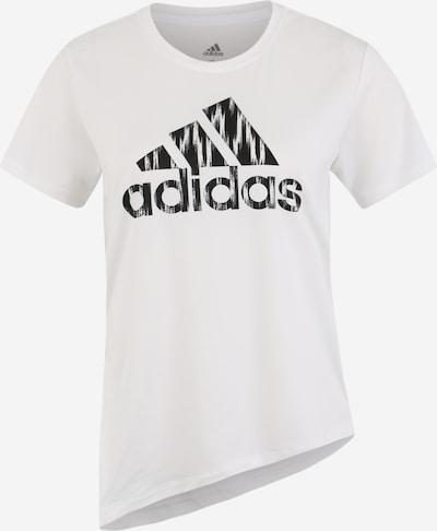 ADIDAS PERFORMANCE T-shirt fonctionnel 'IKAT BOS TEE' en noir / blanc, Vue avec produit