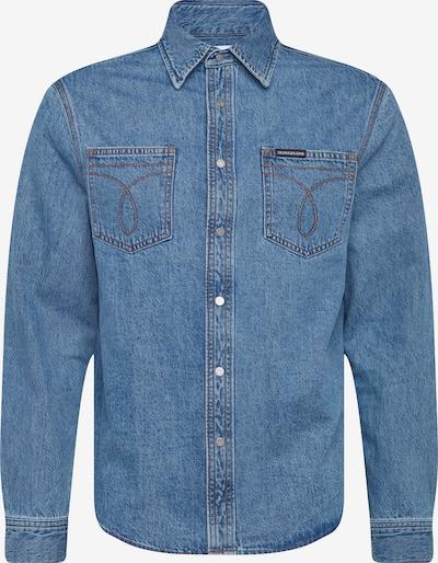 Calvin Klein Jeans Hemden 'Utility Omega' in blue denim, Produktansicht