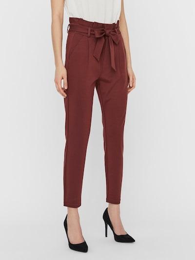 VERO MODA Pantalón plisado en marrón, Vista del modelo