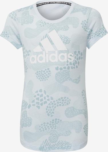 ADIDAS PERFORMANCE Functioneel shirt in de kleur Lichtblauw / Blauw gemêleerd / Wit, Productweergave