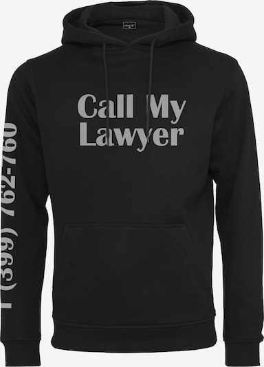Mister Tee Sweatshirt 'Lawyer' in grau / schwarz, Produktansicht