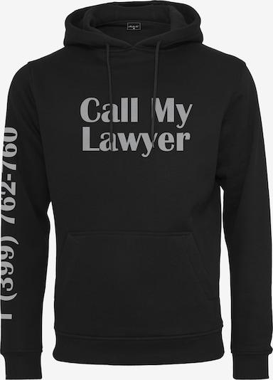 Mister Tee Sweat-shirt 'Lawyer' en gris / noir, Vue avec produit