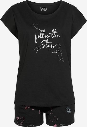 VIVANCE Pyjama in de kleur Gemengde kleuren / Zwart, Productweergave