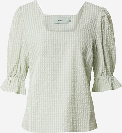 Moves Bluse 'sunisan 1704' in beige / creme / hellgrün, Produktansicht