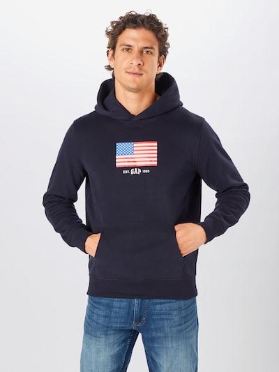 GAP Bluzka sportowa w kolorze niebieski / ciemny niebieski / jasnoczerwony / białym: Widok z przodu