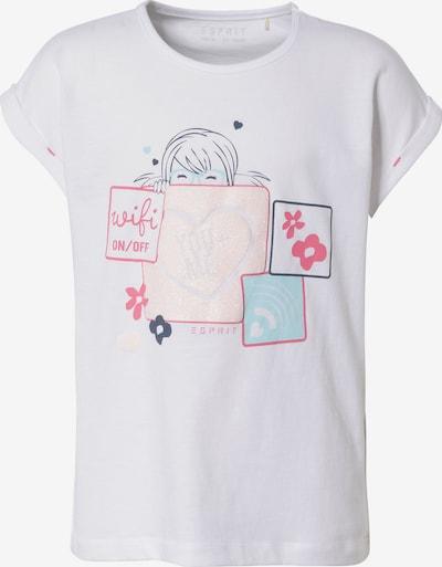 ESPRIT T-Shirt in mischfarben / weiß, Produktansicht