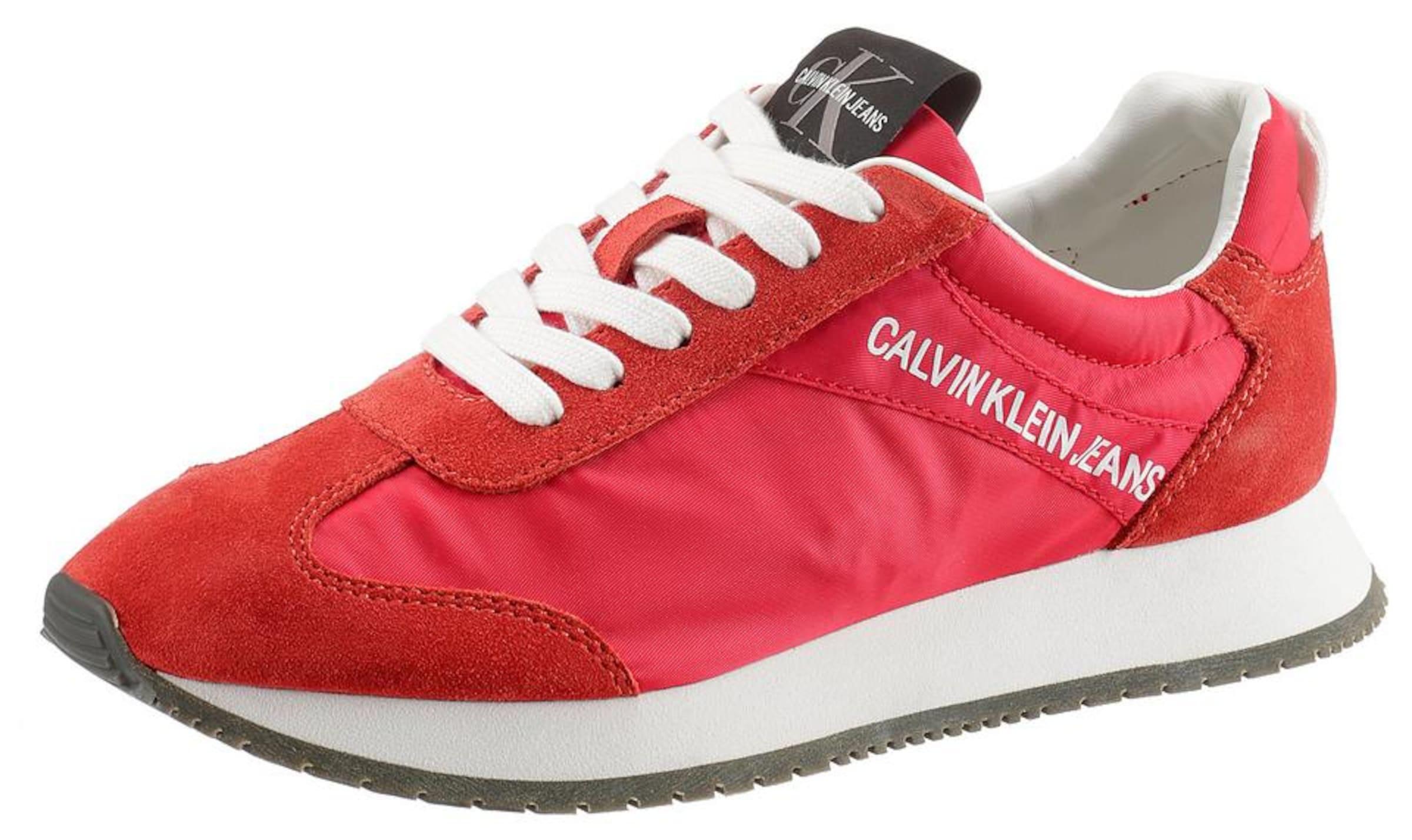 Calvin Jeans Klein In RotWeiß 'jill' Sneaker IYf76yvmbg