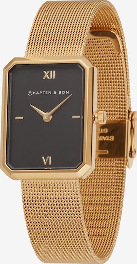 Kapten & Son Analog watch 'Grace Mesh ' in gold / black, Item view