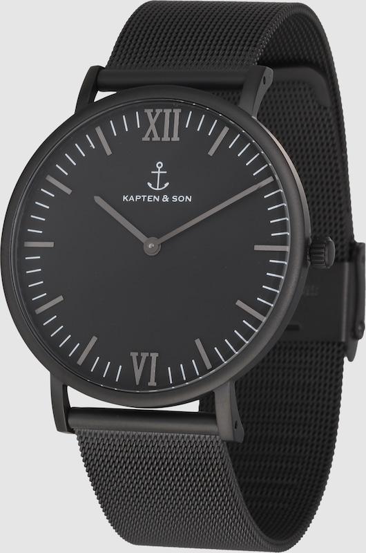 Kapten & Son Analoguhr 'Campus' mit Mesh-Armband