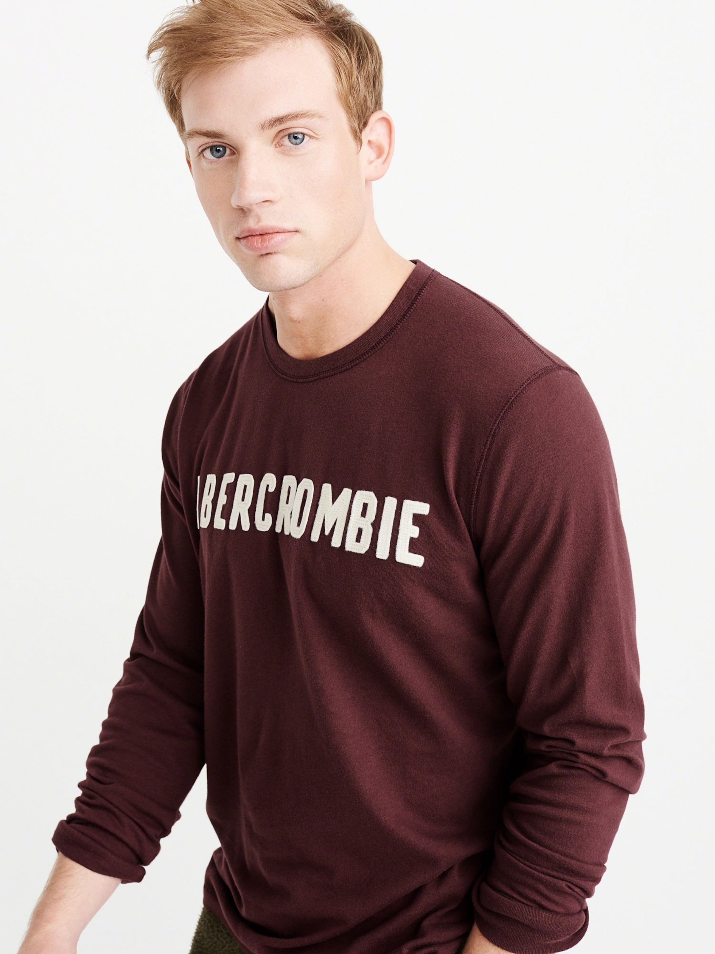 Dtc Ls Tech' Fitch Burgunder Shirt In 'glbl Abercrombieamp; uXikPZ
