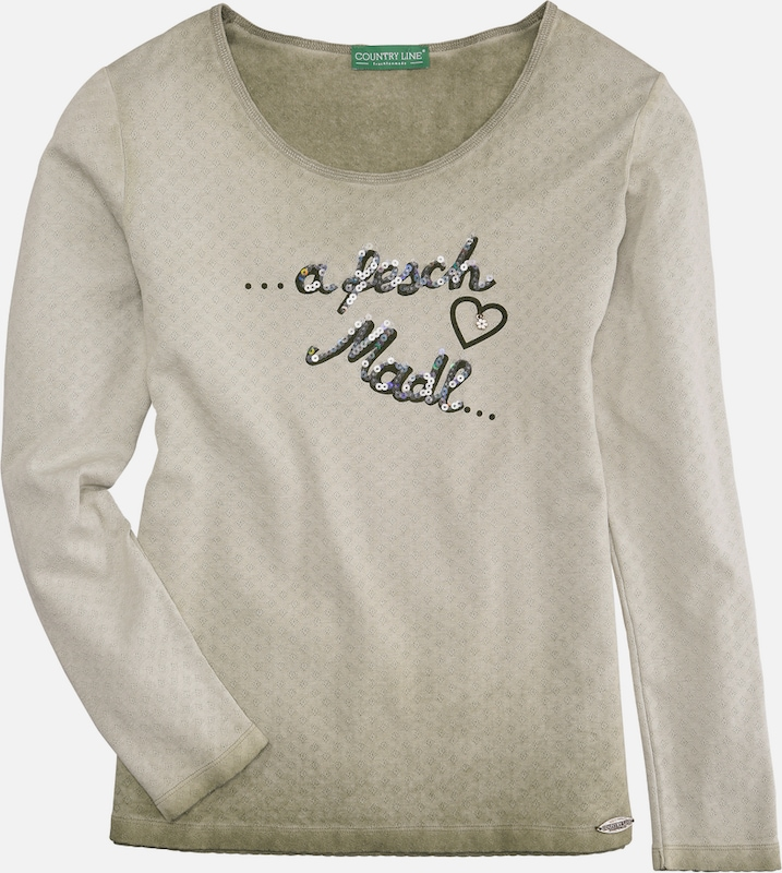 COUNTRY LINE Trachtenshirt Damen mit Paillettenstickerei