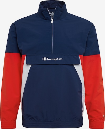 Champion Authentic Athletic Apparel Sweatshirt in dunkelblau / rot / weiß, Produktansicht