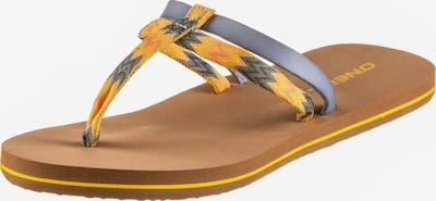 O'NEILL Zehentrenner 'FW VENICE DITSY SANDALS' in blau / braun / gelb, Produktansicht