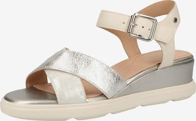 GEOX Sandale in silber / offwhite, Produktansicht