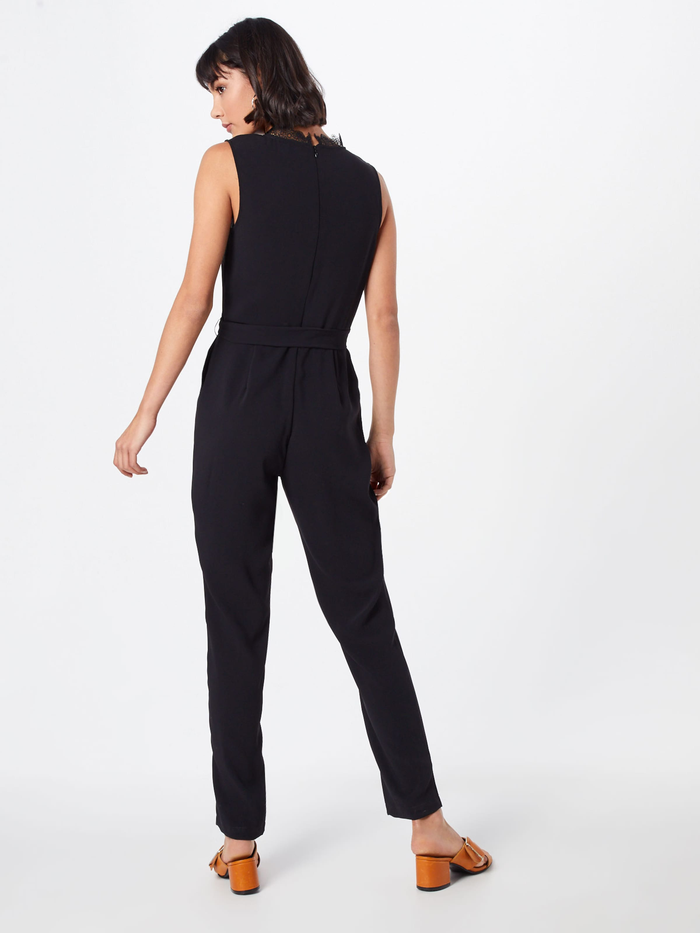 Anna Trim Jumpsuit' In Schwarz Field Woven Overalls 'lace Yb7fv6gy