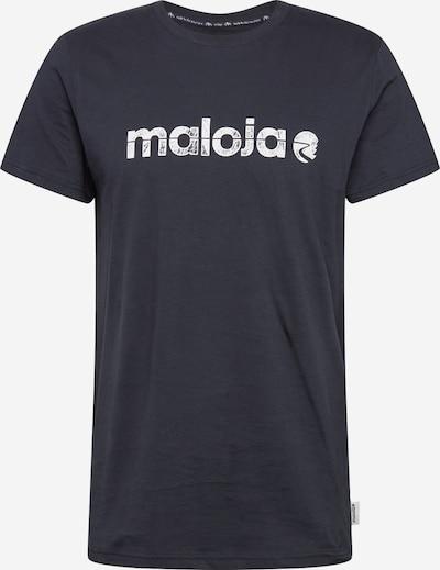Maloja Functioneel shirt 'Sarpang' in de kleur Nachtblauw / Wit, Productweergave