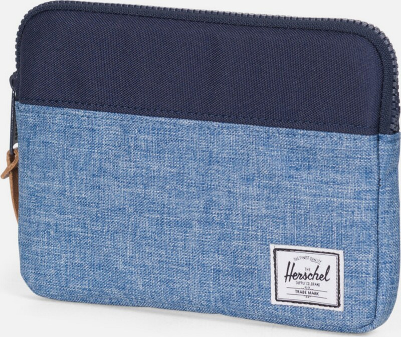 Herschel Tablet Tasche 'Anchor Sleeve, iPad mini, Peacoat/Limoges, Crosshatch'