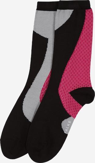 FALKE Chaussettes 'Grafic Jam SO' en gris / pitaya / noir, Vue avec produit