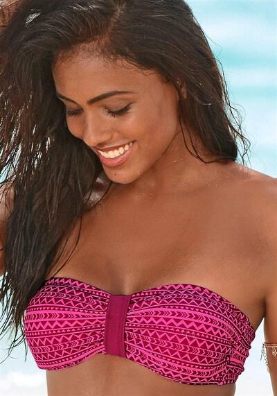 VENICE BEACH Bandeau-Top in pink / dunkelpink, Modelansicht