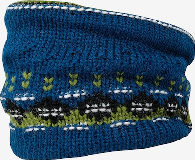MAXIMO Schal in blau / hellgrün / schwarz / weiß, Produktansicht