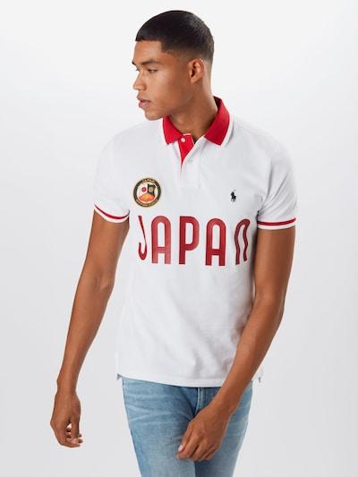 POLO RALPH LAUREN Shirt in rot / weiß: Frontalansicht