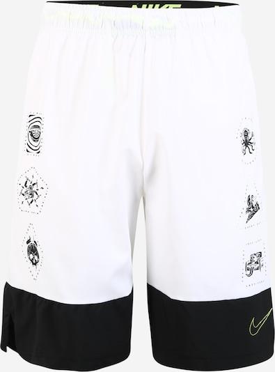 NIKE Spordipüksid 'Flex' must / valge, Tootevaade
