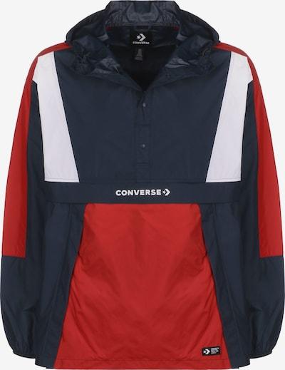 CONVERSE Windbreaker ' Packable Hooded ' in blau / rot / weiß, Produktansicht