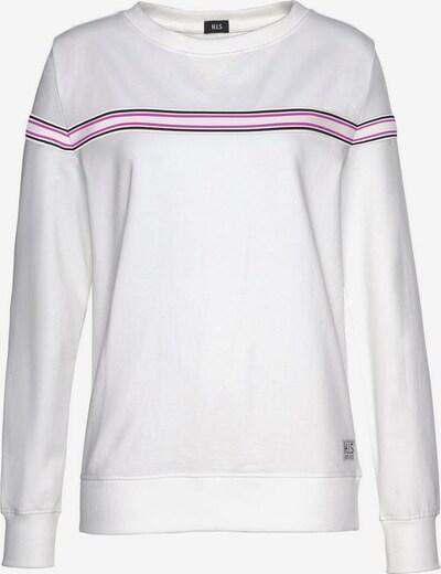 HIS JEANS Sweat-shirt en rose foncé / noir / blanc, Vue avec produit