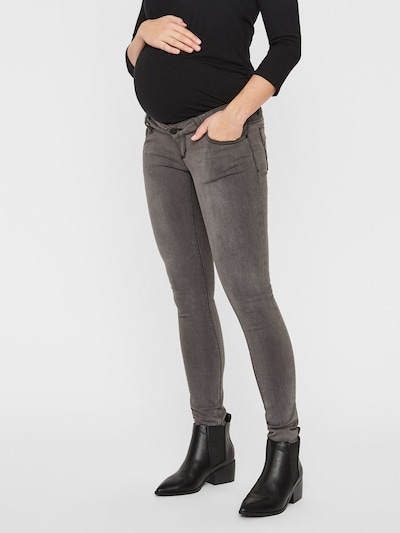 MAMALICIOUS Jeans 'MLLOLA SLIM GREY JEANS' in grau, Modelansicht