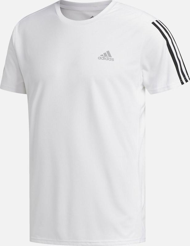 adidas – Running – Schwarzes T Shirt mit drei Streifen